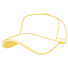 Outline of a hat