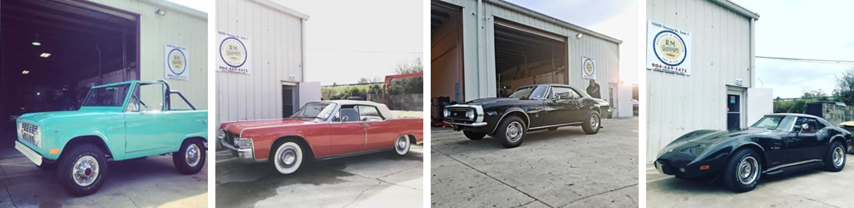 Gallery of four pictures, each of a different car