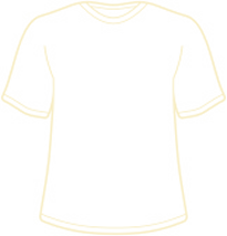 Outline of a t-shirt